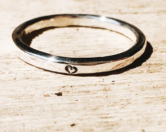 pure love - a simple and modern promise ring, engagement ring, wedding band