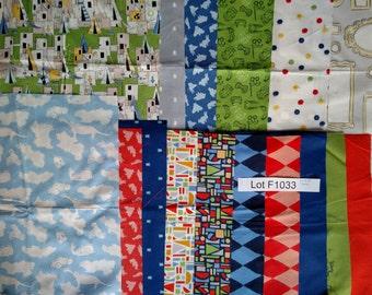 """17 pieces of Let's Pretend, Sarah Jane Studios designer quilting cotton. DESTASH LOT F1033 15x18.5"""" cuts, unwashed. Quilt Kit, Scraps, DIY"""
