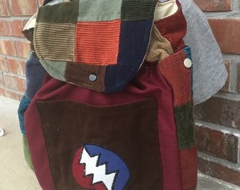BIG KID Sized Backpack -- Stealie (patchy)