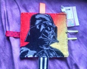 "Darth Vader Crinkle ""Taggie"" Toy ~ Soft Fleece ~ Ribbons ~ The Dark Side ~ Star Wars ~ Anakin Skywalker ~ Sith Lord ~ 3m+"