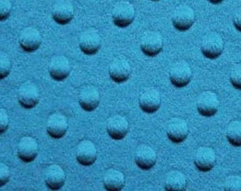 ON SALE - 40% Off TOP Quality Dark Turquoise Plush Minky Dot Fabric Bty