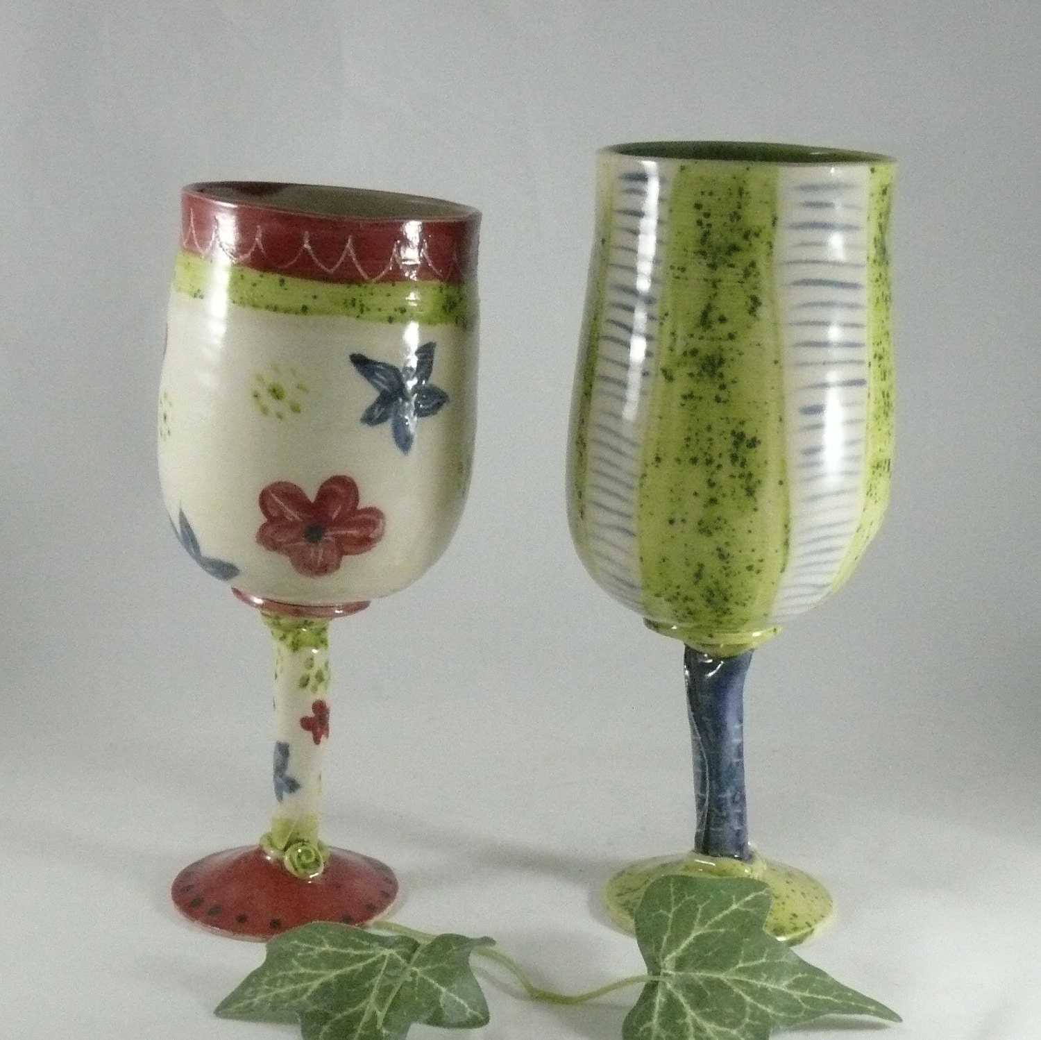 Quirky Wedding Wine Glass Funky Bridal Wine Or Parfait Glass