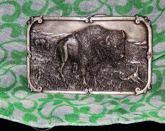 Metal Belt Buckle, buffalo,  model T, Henry Ford
