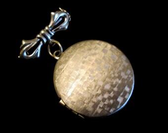 Silver Bow- Bridal or Groom Bouquet Brooch