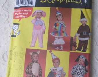 Simplicity 4006 Sewing Toddler's Costume Pattern for Dummies Baby Size A 1/2-1-2-3-4