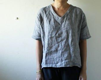 LINEN BLOUSE / limited edition / womens blouse / linen tee / linen t shirt / summer / spring / made in australia / pamelatang