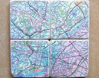 Philadelphia Map Coasters
