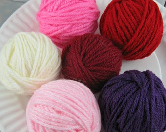 Yarn Remnants, Yarn Destash, Yarn Leftovers, Yarn Balls, Total 150 Yards