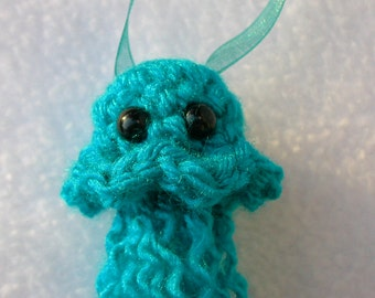 Turquoise Blue Sea Jelly Ornament