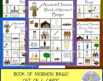 Book of Mormon (Ancient Heroes) Bingo Game Set of 6