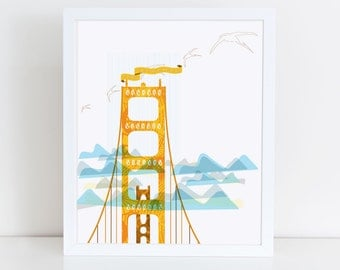 San Francisco Golden Gate Bridge Print