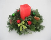 Fresh Greenery Candle  WREATH FREE candle Larger size & Free Shipping