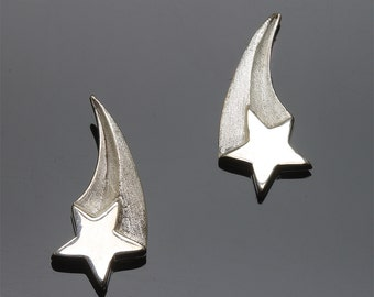 Sterling Silver Shooting Star Earrings by Cavallo Fine Jewelry