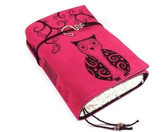 Leather Journal, Handmade Notebook, Travel Journal, Owl