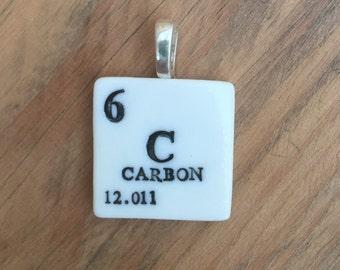 Carbon Periodic Table pendant