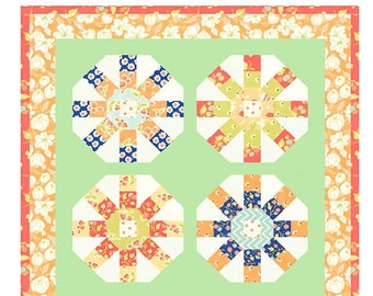 MINI Ferris Wheel quilt pattern wall hanging from Fig Tree and Co. - Charm pack friendly
