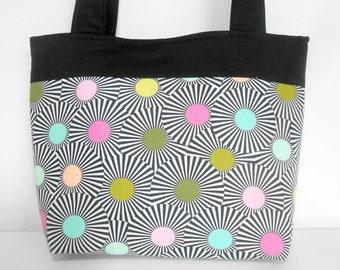 Modern Black Medium Tote Bag