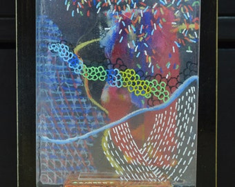 Tonight - 3D art painting on glass by scott garrette