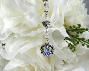 Something Blue Bridal Bouquet Charm Something Blue Bouquet Charm Blue Bouquet Accessory Wedding Keepsake Bridal Shower Gift