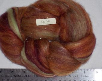 Blended Merino, Tencel, Silk Noil Roving 1-1/4 oz - ROV20