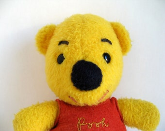 Vintage Winnie the Pooh Teddy Bear Stuffed Animal 1970s toy