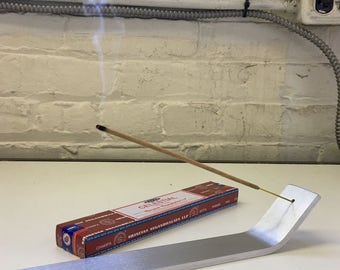 Detann  Incense burner.  Solid Aluminum hand made minimal design by Jonathan  Sebastian