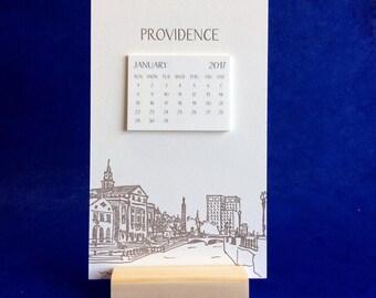 Providence Cityscape 2017 Postcard Calendar