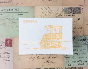 Miami - five letterpress postcards