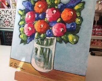 Bright Flowers / Acrylic / Archival Print / 4 sizes