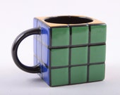 Rubik's Cube, Coffee Mug, Cup, 80s, Novelty, Funny, Gift ~ The Pink Room ~ 161010
