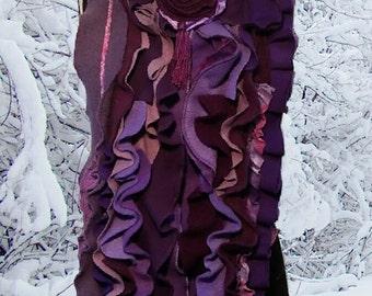 Ultimate RUFFLE Scarf Purple