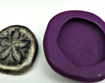Silicone Flex Mold - 30mm Sand Dollar - for Polymer Clay, Resin, Clay, precious metal clay, Paper clay, soap and crafts