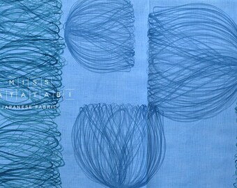 Nani Iro Kokka Japanese Fabric Chorus linen - a capella - 50cm