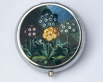 Auriculas Flower Pill Case pillbox holder botanical