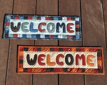 PDF Quilted Welcome Sign Pattern..... EASY Applique Pattern....uses One Charm Pack