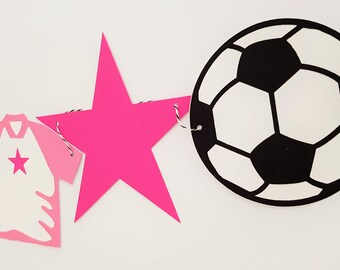 Girls Soccer Party Garland, Soccer Banner, Sports Garland, Sports Banner, Birthday Garland, Birthday Banner, READY TO SHIP