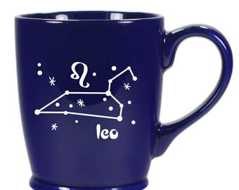 Leo Zodiac Constellation Mug - Choose Your Cup Color