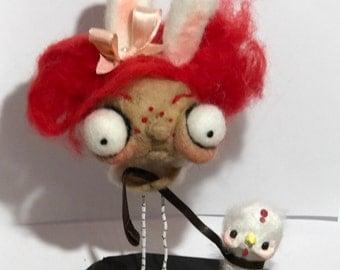 The chicken walk  Ooak   art doll