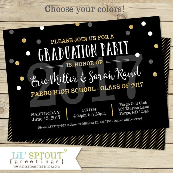 Printable Graduation Invitation Joint Graduation Party – Open House Party Invitation