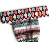 Knitting Needle Keeper DPN Cozy for 6 inch needles, Festive Forest