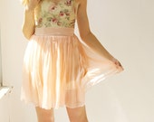 Sample SALE - short silk chiffon dress with floral bodice
