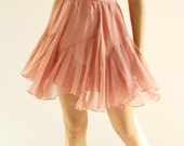 Sample Sale- pink silk chiffon and crepe skirt