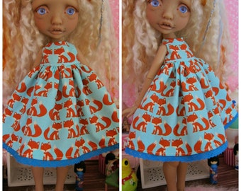 Mystery Tiny BJD Fox Babydoll Dress by Tickled Pink by Julie