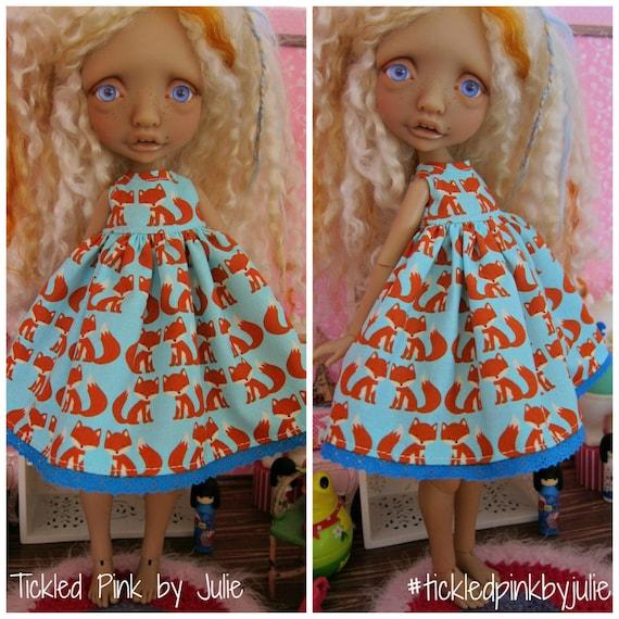 Mystery Tiny BJD Fox Babydoll Dress by Tickled Pink by Julie