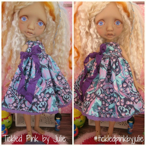 Mystery Elf Tiny BJD Babydoll Dress by Tickled Pink by Julie