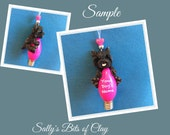 Black Cairn Terrier Dog Christmas Holidays Light Bulb Ornament Sallys Bits of Clay PERSONALIZED FREE
