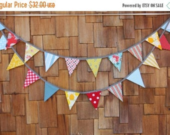 20% OFF On SALE Carnival Theme Fabric Bunting in Boy or Girl Theme,12 Flags, Wedding Decor, Photo Prop, Party Decor, Pennant Flags. 6' Mediu