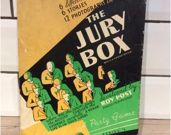 Vintage 1936 'The Jury Box' Game