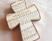 The Battle Hymn of the Repuic Wooden Wall Hymnal Cross