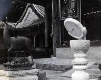 vintage photo 1911 Peking China Summer Palace SUNDIAL Private photograph